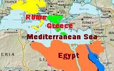 Ancient Civilizations - Map of egypt greece and rome