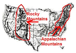 Map Of US And Canada With Rivers Mountains Plains Homeschool List - Us map with major rivers and mountains
