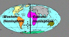 3rd grade geography the prime meridian divides the earth into eastern and western hemispheres sciox Choice Image