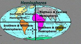 The Equator And The Prime Meridian Divide The Earth Into 4 Hemispheres:  Northern, Southern, Eastern And Western. We Live In The Northern And Western  ...