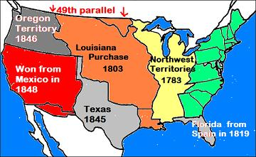STANDARD USa - Us westward expansion map