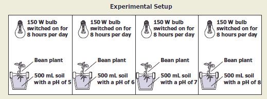 High school biology 2008 released test the diagram shows a setup for a plant investigation which variable is most likely being tested ccuart Image collections
