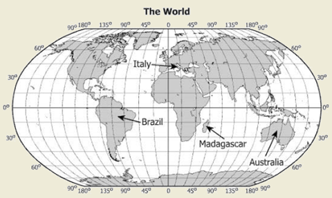 World geography 2013 released test questions which country contains the latitude and longitude 155 45w gumiabroncs Image collections
