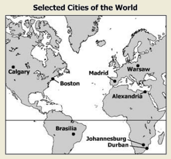 World geography 2013 released test questions which two cities have opposite seasons gumiabroncs Image collections